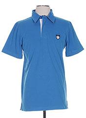 Polo manches courtes bleu CAMBE pour homme seconde vue