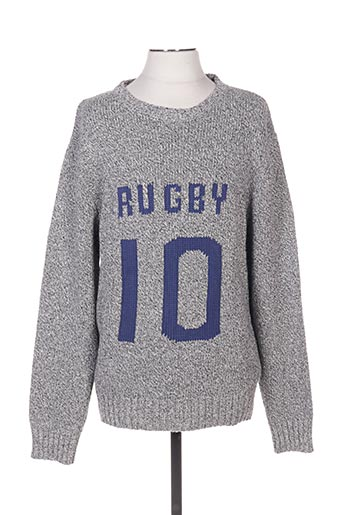 Pull col rond gris CAMBE pour homme