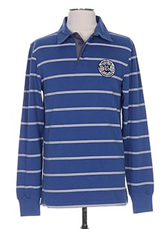T-shirt manches longues bleu CAMBE pour homme