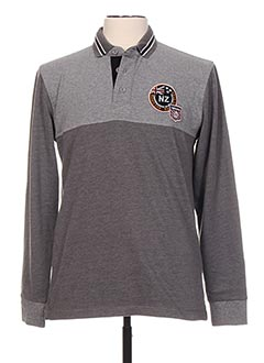Polo manches longues gris CAMBE pour homme