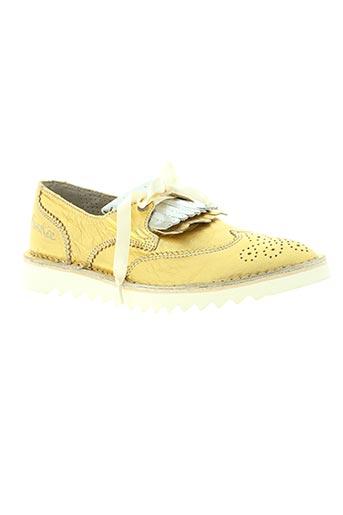 bunker chaussures femme de couleur jaune