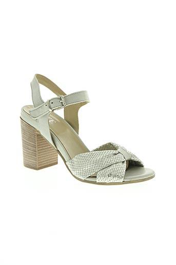 life chaussures femme de couleur gris