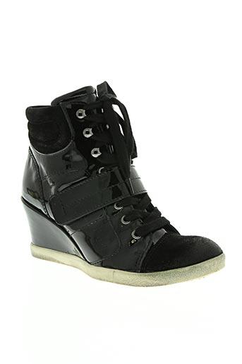 metal jean's chaussures femme de couleur noir