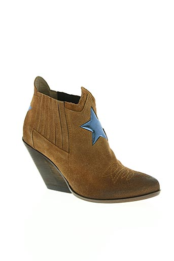 area forte chaussures femme de couleur marron