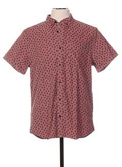 Chemise manches courtes rose SCOTCH & SODA pour homme