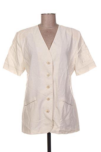 Veste casual beige CHARLES HUTEX pour femme