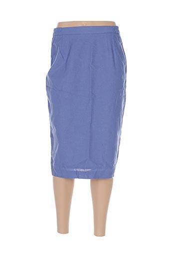 Jupe mi-longue bleu CHARLES HUTEX pour femme