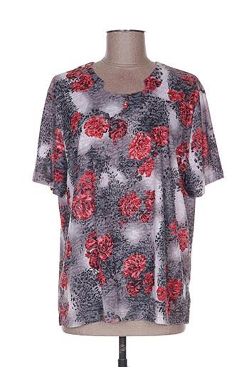 T-shirt manches courtes gris DELUXE STARS pour femme