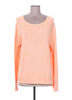 Pull col rond orange BROADWAY pour femme