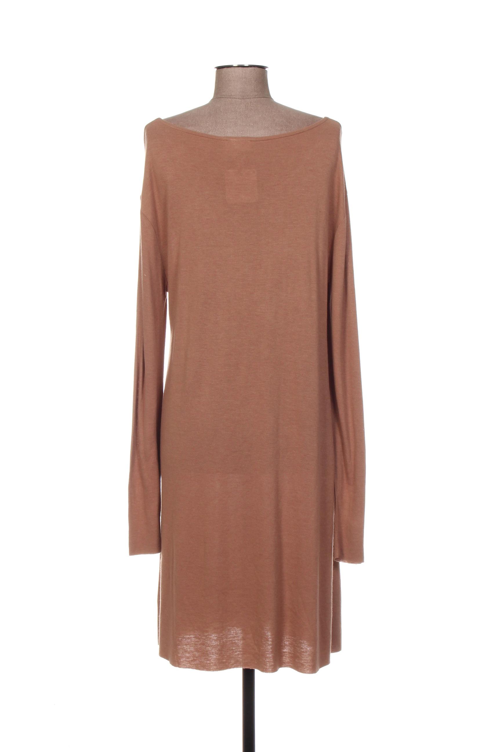 American Vintage Robes Pulls Femme De Couleur Marron En Soldes Pas Cher 1318072-marron