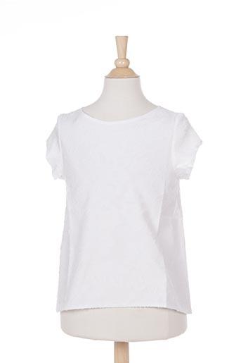 Tunique manches courtes blanc MARESE pour fille