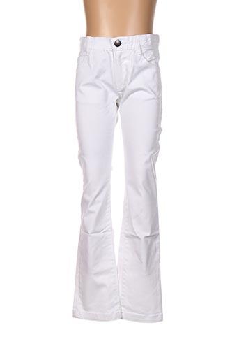 Jeans coupe droite blanc MARESE pour garçon