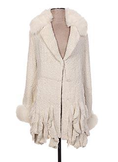 Manteau long blanc AKHESA pour femme