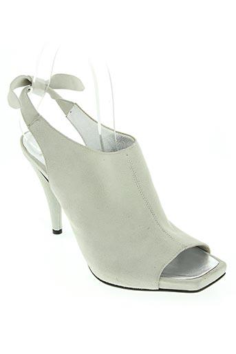 enrico lugani chaussures femme de couleur gris