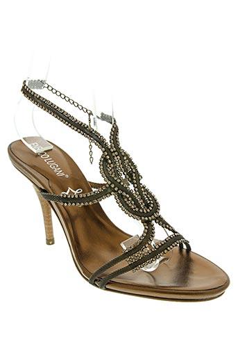enrico lugani chaussures femme de couleur marron