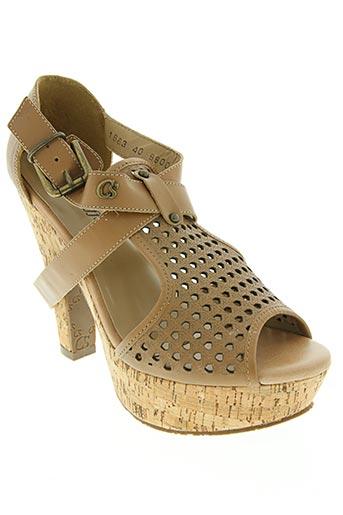 carmen steffens chaussures femme de couleur beige