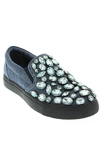 sara lopez chaussures femme de couleur bleu