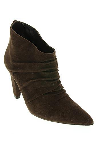 hop's... chaussures femme de couleur marron