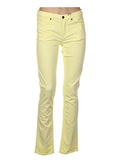 Jeans coupe droite jaune GANT pour femme