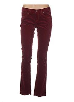Pantalon casual rouge GANT pour femme