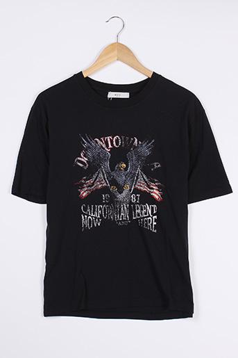T-shirt manches courtes noir NVY pour femme