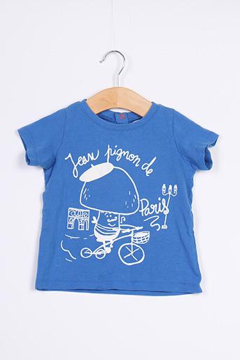 T-shirt manches courtes bleu DU PAREIL AU MÊME pour garçon
