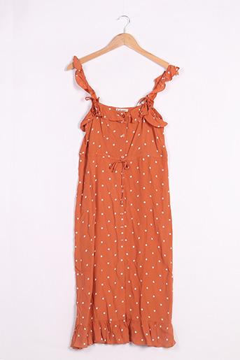 Robe longue marron FOR LOVE & LEMONS pour femme