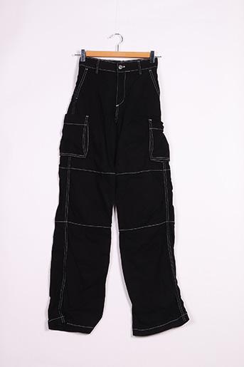 Pantalon casual noir BERSHKA pour femme