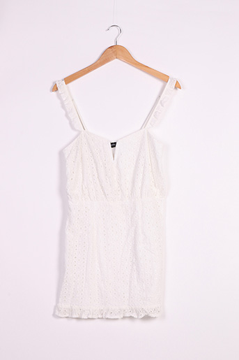 Robe courte blanc PRETTY LITTLE THING pour femme