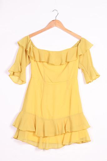Robe courte jaune BOOHOO pour femme