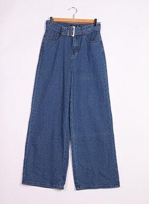 Jeans coupe large bleu BOOHOO pour femme