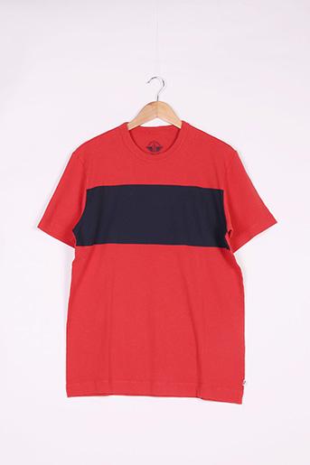 T-shirt manches courtes rouge DOCKERS pour homme