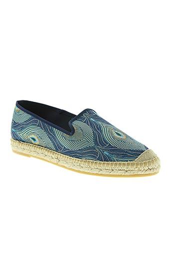 kanna chaussures femme de couleur bleu