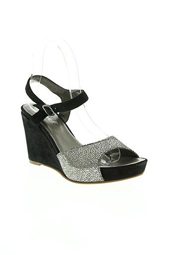 Sandales/Nu pieds noir ALIWELL pour femme