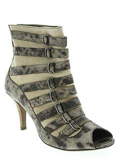 Bottines/Boots beige BOCAGE pour femme