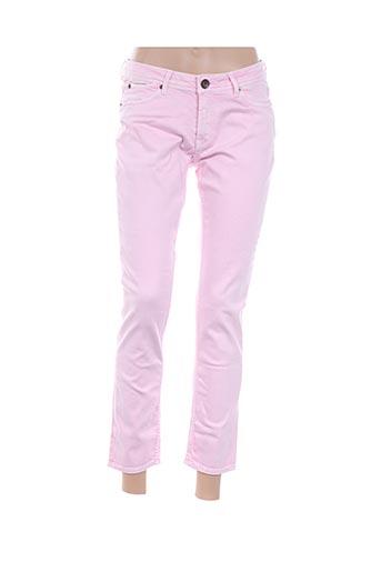 Pantalon 7/8 rose GARCIA pour femme