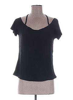 T-shirt manches courtes noir VIRGINIE & MOI pour femme