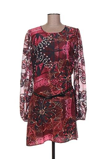 Robe mi-longue rose CUSTO pour femme