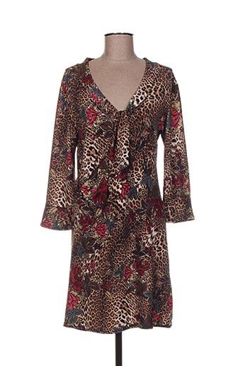 Robe mi-longue rouge CARLA CELSI pour femme