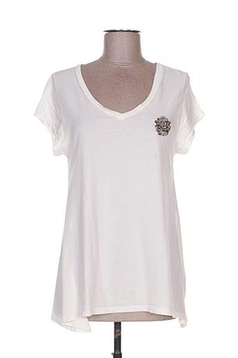 T-shirt manches courtes beige ED HARDY pour femme