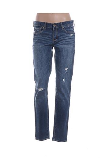 Jeans coupe slim bleu ABERCROMBIE & FITCH pour femme