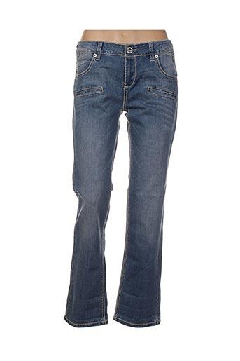 Jeans coupe droite bleu ECKO pour femme
