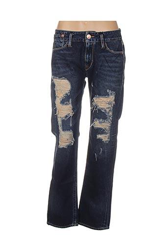 Jeans coupe droite bleu ED HARDY pour femme