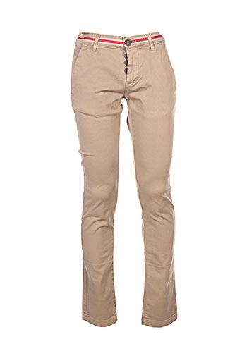 Pantalon casual beige BIAGGIO pour femme