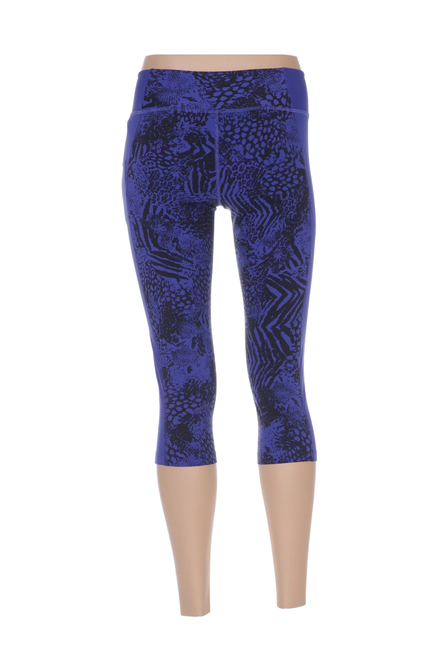 Deha Leggings Femme De Couleur Bleu En Soldes Pas Cher 1321192-bleu00
