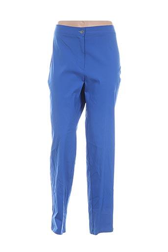 Pantalon casual bleu DEOMINO pour femme