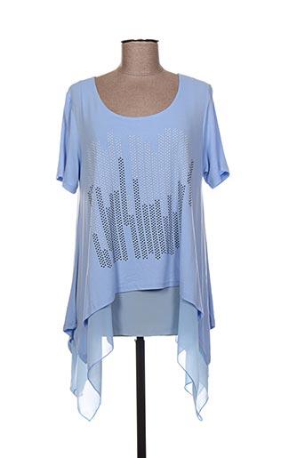 Tunique manches courtes bleu EYLEX pour femme