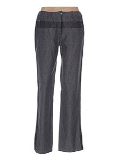 Pantalon casual gris BLEU DE SYM pour femme