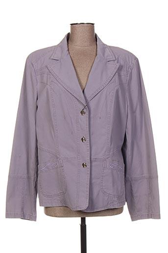 Veste casual violet BLEU DE SYM pour femme