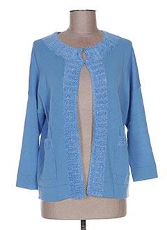 Gilet manches longues bleu CAROLINE BISS pour femme